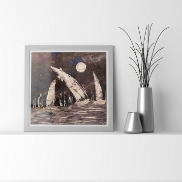 Trois voilier de nuit